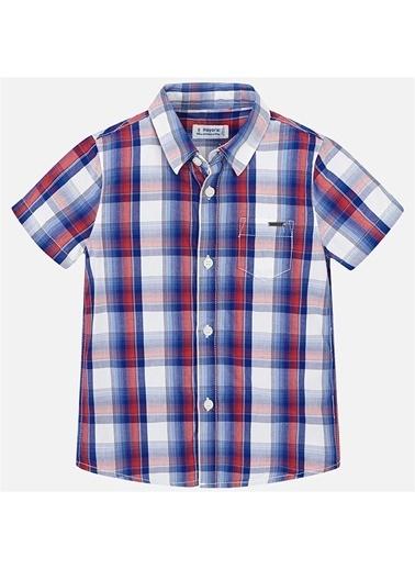 Mayoral Mayoral Erkek Çocuk Ekose Kısa Kol Gömlek Mavi